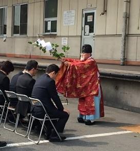 2015年4月奈良池沢工場地鎮祭(入魂式)